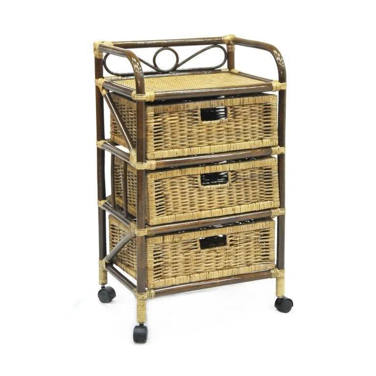 мебель из ротанга Комод с плетеными ящиками