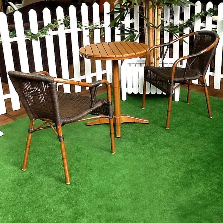 мебель из ротанга Комплект обеденный 006  (стол + 2 кресла)