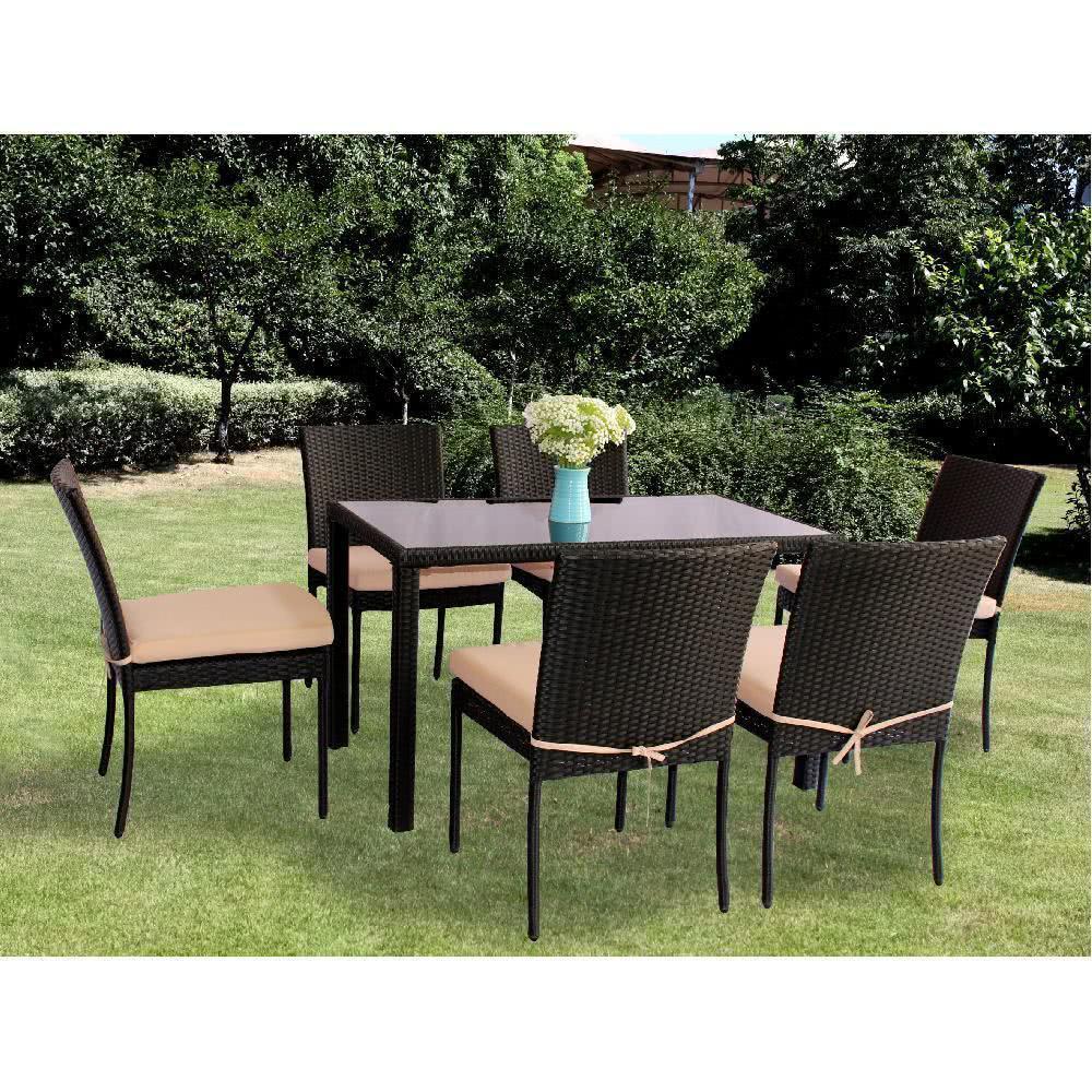 мебель из ротанга Комплект обеденный FAMILY (стол + 6 стульев)