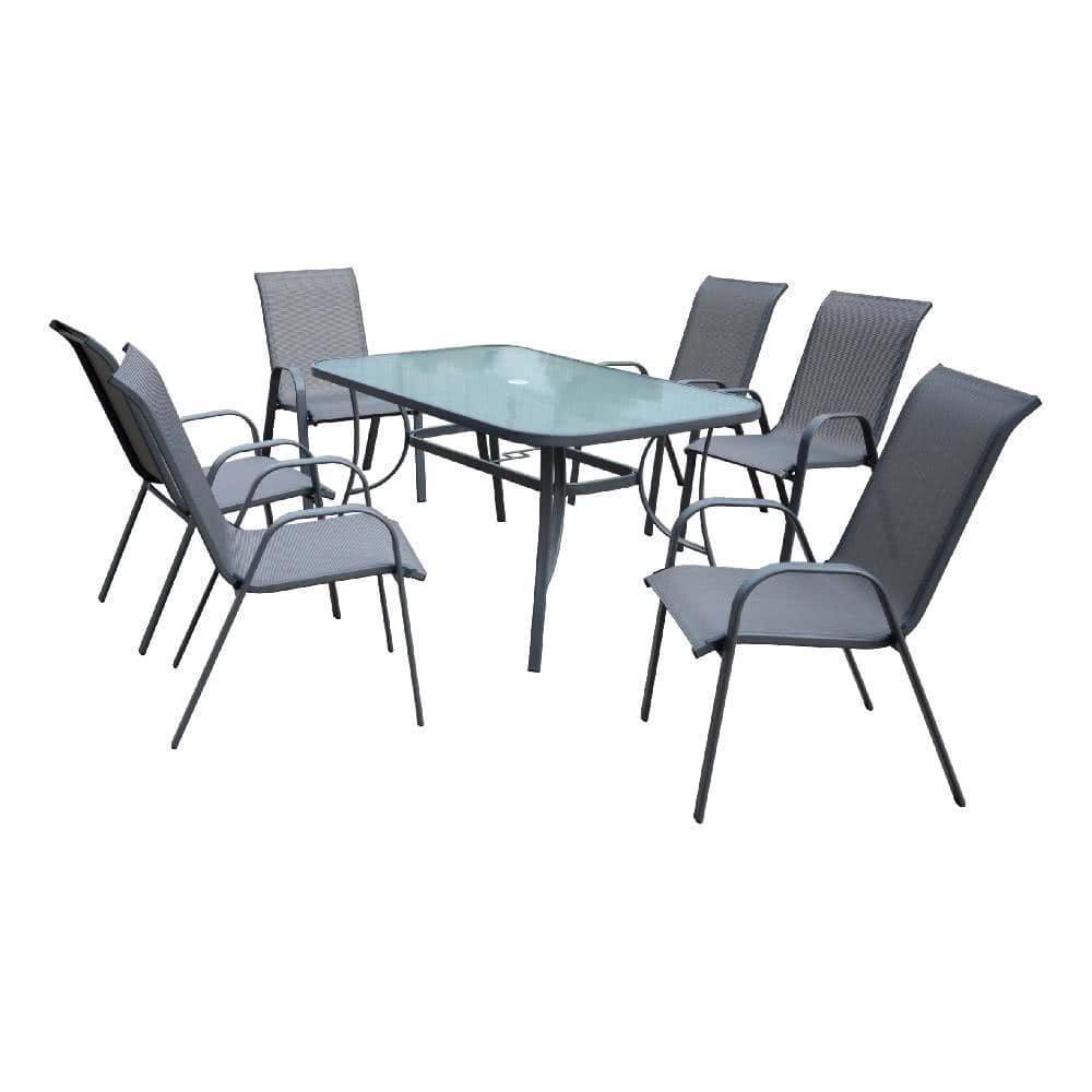 мебель из ротанга Комплект садовый KINGSTON (стол + 6 кресел)