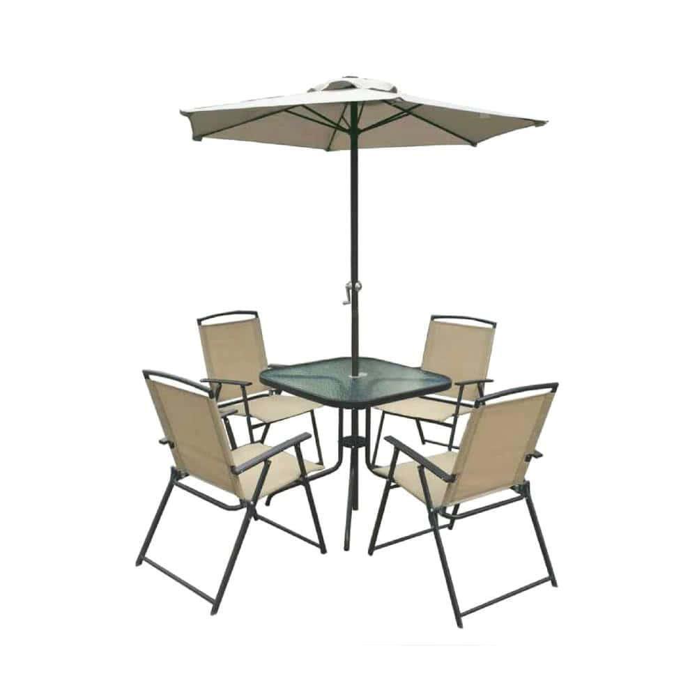 мебель из ротанга Комплект садовый VINE (стол + 4 кресла + зонт)