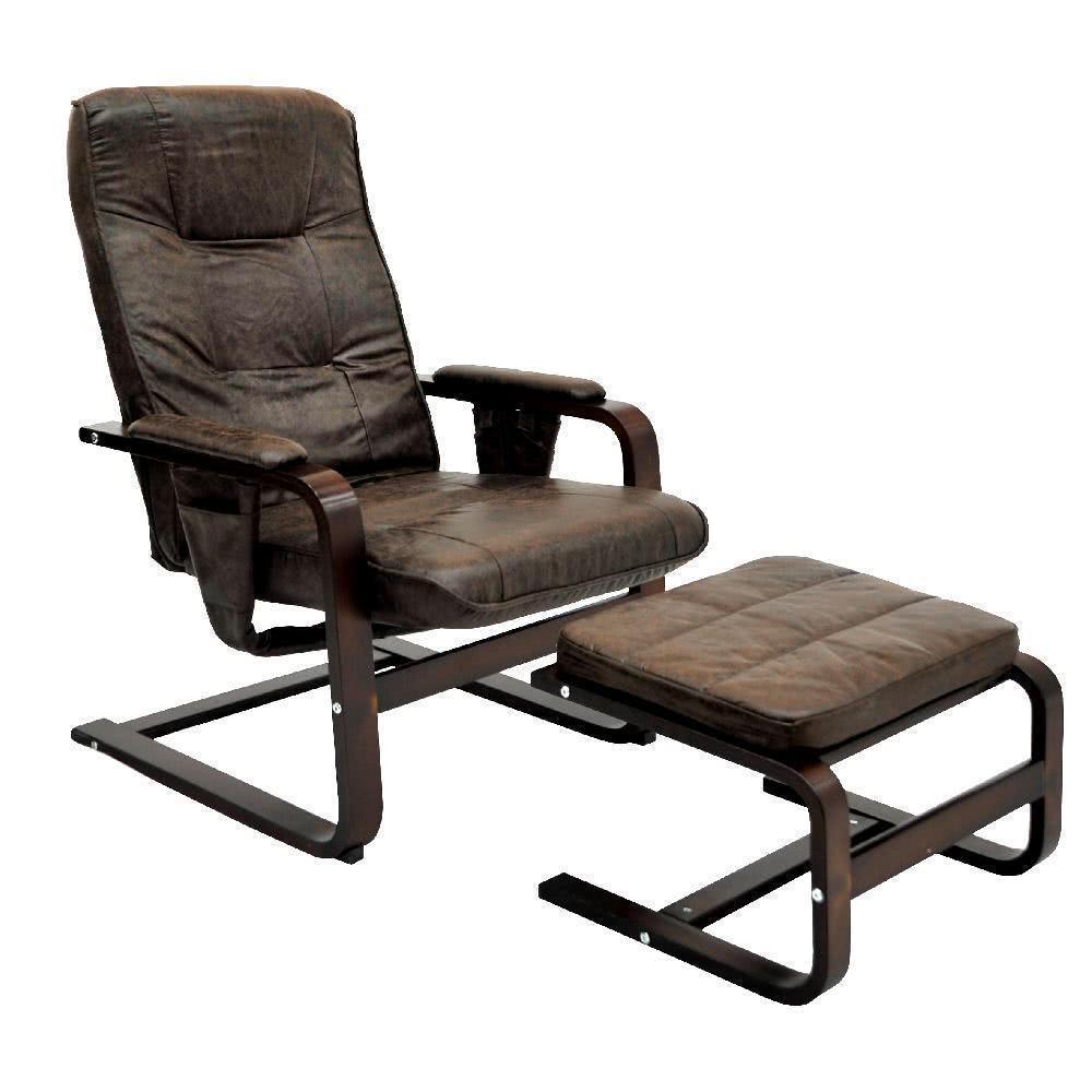 мебель из ротанга Кресло для отдыха с механизмом в комплекте с пуфом