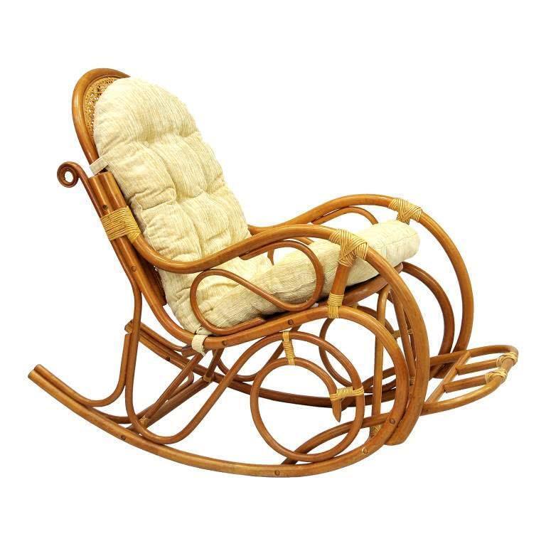 мебель из ротанга Кресло-качалка с подножкой