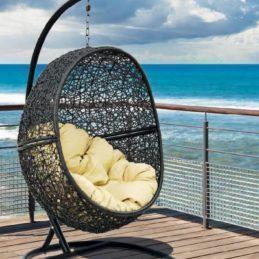 мебель из ротанга Кресло подвесное Lunar Black