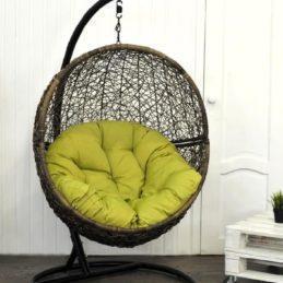 мебель из ротанга Кресло подвесное Lunar Coffee