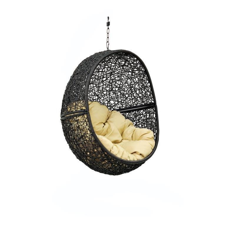 мебель из ротанга Чаша с подушкой Lunar Black