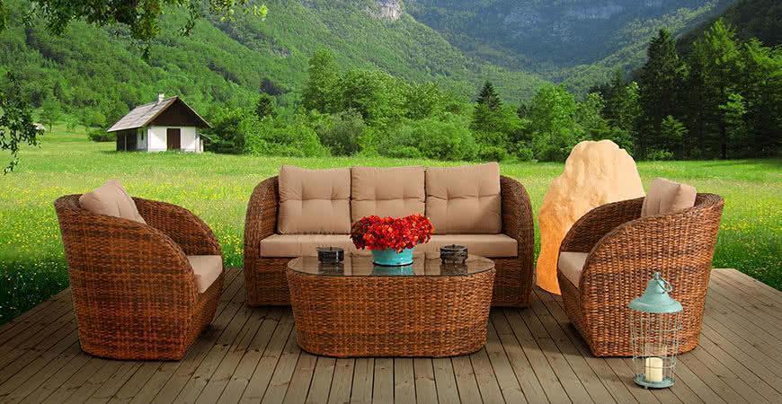 Мебель из ротанга для сада